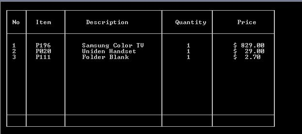 Turbo c draw text mode grid table using ascii characters for How to make a table in html